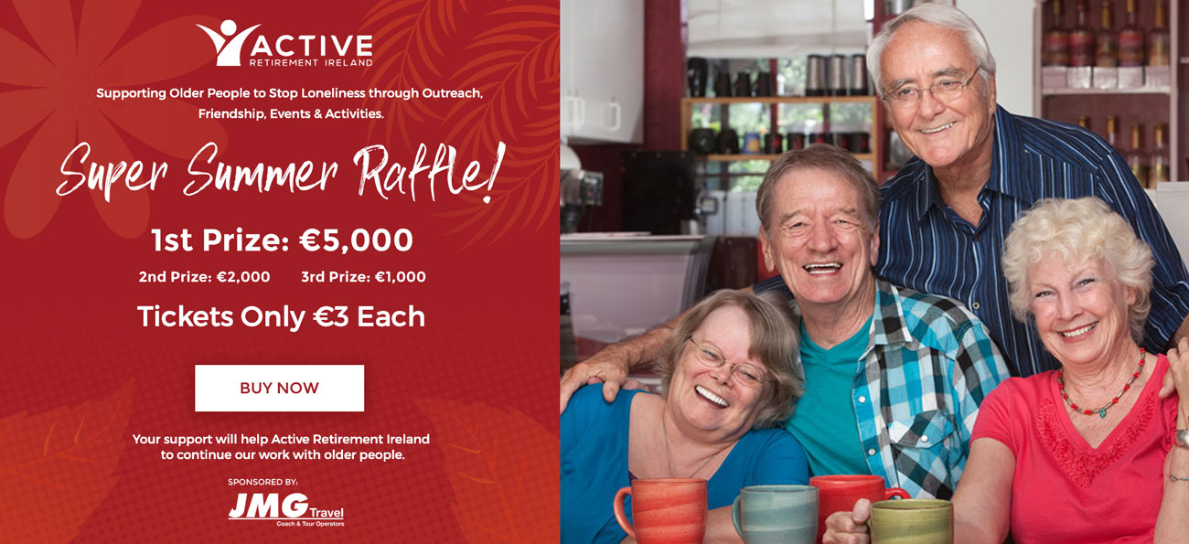 Active Retirement Raffle Promo Banner - click to buy