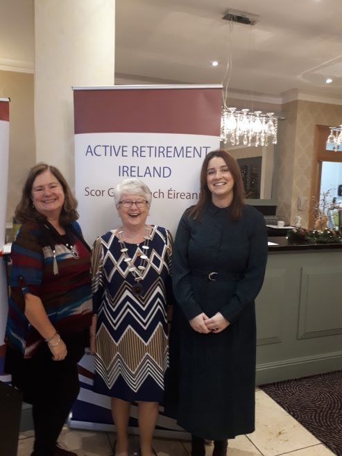 Maureen Kavanagh, CEO & Kay Murphy, President, are joined by Gwen Beveridge of Tourism Northern Ireland